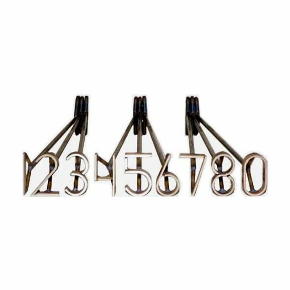 Fire Heated Cattle Brand Number Set