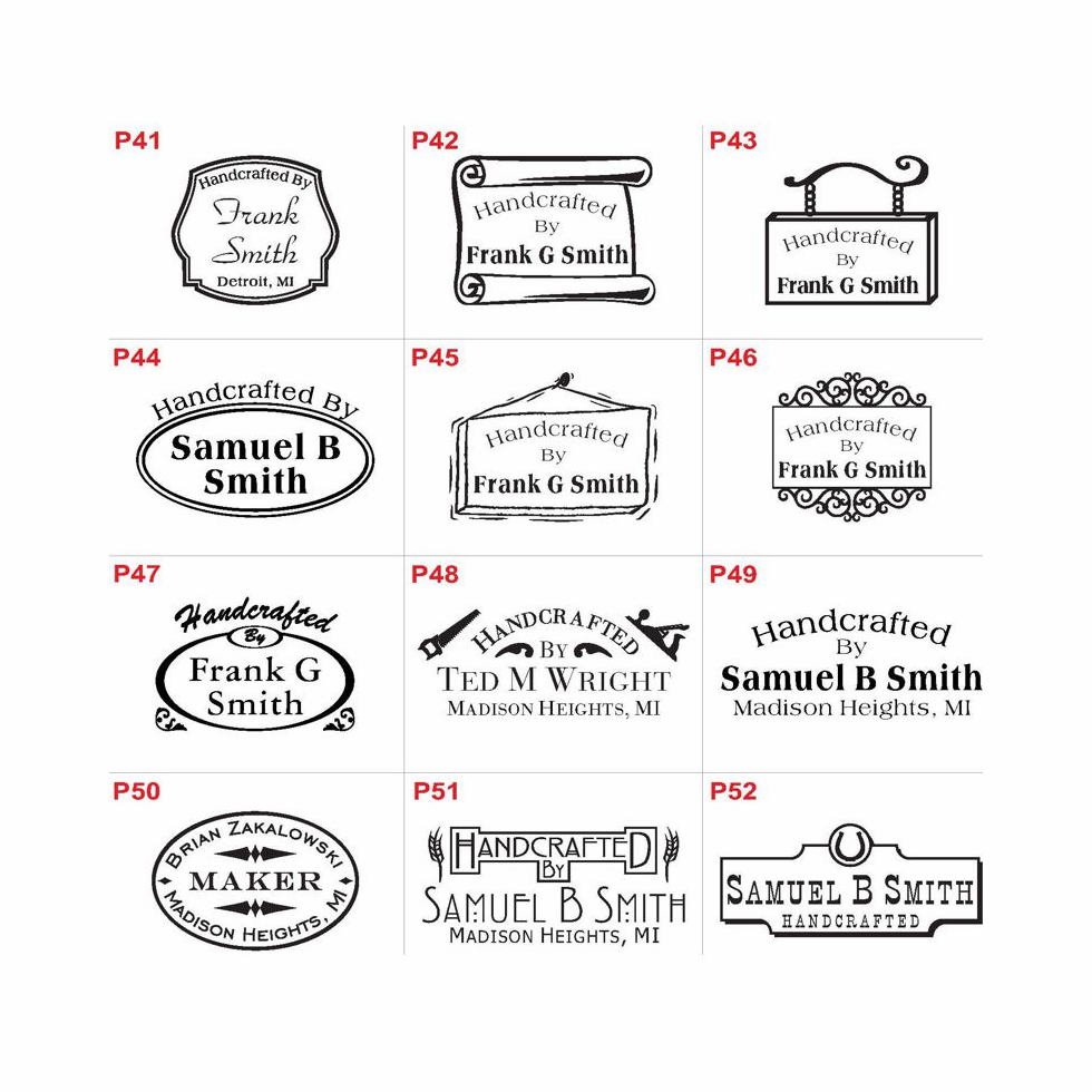 Plaque Style Logo Images