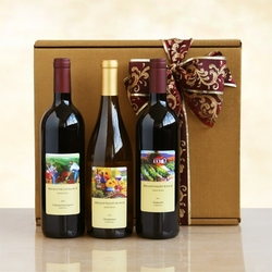 Burgundy & Gold Wine Collection Gift Box