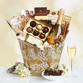 Decadent Golden Chandon & Desserts Gift Basket