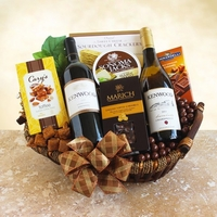 Deux Kenwood Wine & Gourmet Treats Gift Basket