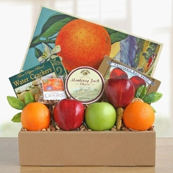 Fancy Fresh Gourmet Fruit & Treats Gift Basket