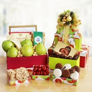 Fresh Fruit & Gourmet Treats Gift Tower