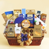 Golden Cobalt Grand Gourmet Gift Basket