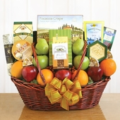 Grand Gourmet Treats & Fresh Fruit Gift Basket