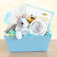 Happy Hopping Baby Boy Gift Set with Picture Frame