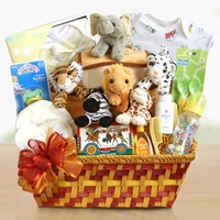 Little Baby Animal New Arrival Gift Basket