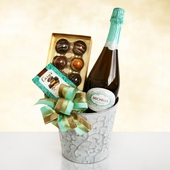 Michelle Sparkling Wine & Chocolate Satin Gift Set