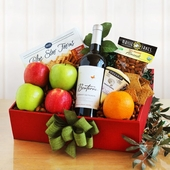 Organically Grand Fruit & Wine Gift Box