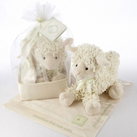 Plush Lamb and Lovie Gift Set