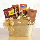 Polished Golden Gourmet Gift Basket