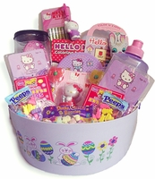 PRETTY N PURPLE  HELLO KITTY EASTER BASKET