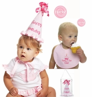 Princess Birthday Hat & Bib Set