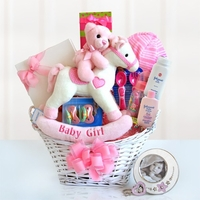Rock A Bye Baby Girl Gift Basket