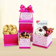 Sweet X's & O's with Love Gift Tower