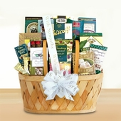 With Genuine Sympathy Grand Gift Basket