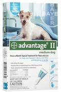 Advantage II For Medium Dogs 11-20 lbs, 4 Pack