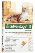 Advantage II for Small Cats 5-9 lbs, 4 Pack