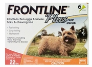 Frontline Plus, Dogs 0-22 lbs, ORANGE - 6 Tubes