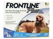 Frontline Plus For Dogs 23-44 lbs, Blue 6 Tubes