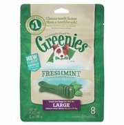 GREENIES Freshmint Dental Chews for Dogs, Large, 8 Count
