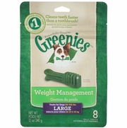 Greenies Weight Management Treats For Dogs 25-50 lbs, Large, 8 Daily Treats