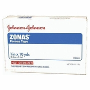 Johnson & Johnson Zonas Porous Tape 1 In X 10 Yard Roll, 12 Rolls/Box