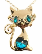 Kitten with a Heart, Pendant with Chain