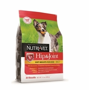 Nutri-Vet Grain Free Hip & Joint Soft Biscuits for Dogs, 30 Biscuits