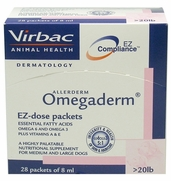 OmegaDerm EZ Dose Packets For Dogs Over 20 lbs, 28 Packets Of 8 ml