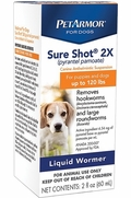 PetArmor Sure Shot 2X Wormer For Dogs, 2 oz
