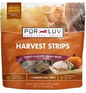 Pur Luv Harvest Strips, Turkey & Pumpkin, 16 oz