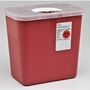 Sharps Container, 2 Gallon With Rotor Opening Lid