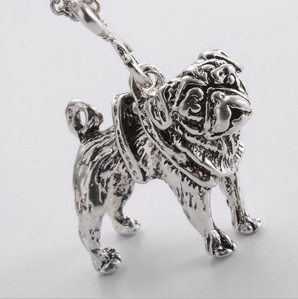 Silver metal pit bull pendant with chain at petstruly click to enlarge pic 1 aloadofball Choice Image