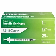 "UltiCare U-100 Insulin Syringe, 1cc 29g x 1/2"", 100/Box"