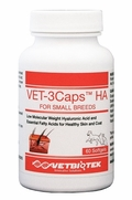Vet-3Caps HA For Small Breeds, 60 Softgels, Red