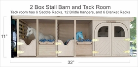 2 Box Stall Barn and Tack Room