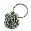 1-1/2 Inch Fine Pewter St.Michael/Patron of Police Keychain