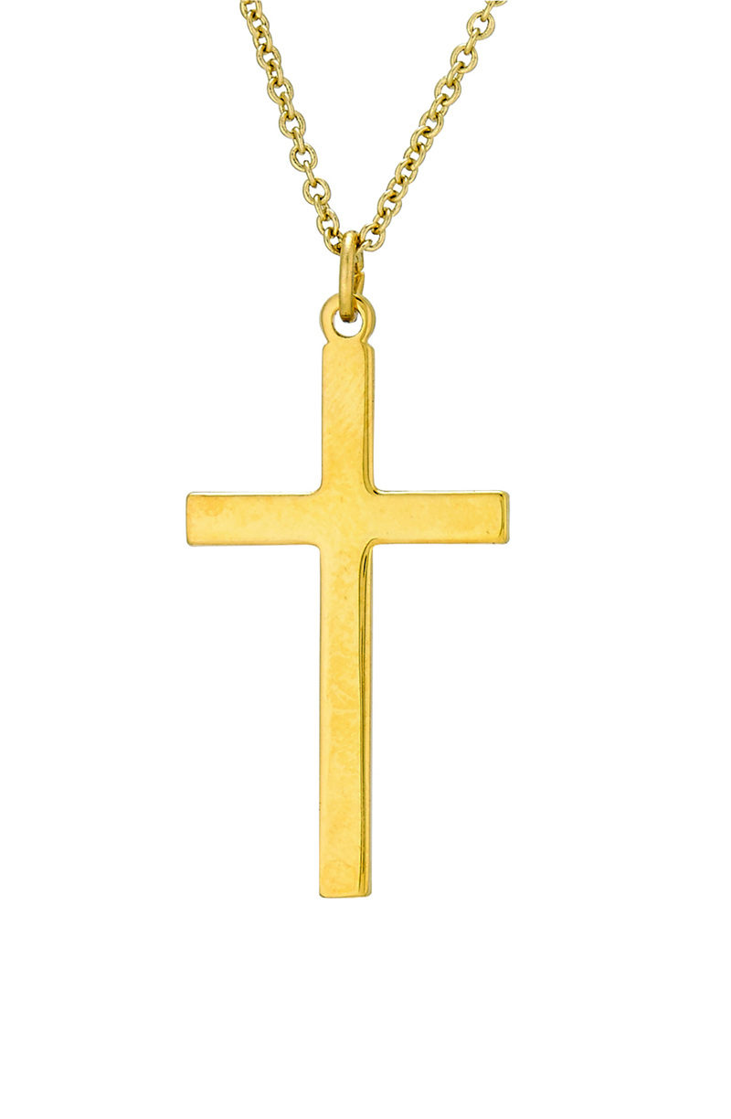 Gold Plated Crucifix Pendant Including 24 Inch Necklace Crucifix Medals