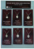 1-1/8 Inch Oval Sterling Silver St. Joseph Medal on 24 Inch Stainless Steel Chain