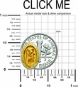 "1/2"" 14K Gold Small Oval St. Christopher Medal With Polished Border"