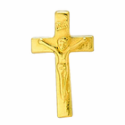 1/2 Inch Gold Plated Crucifix Earrings