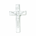 1/2 Inch Sterling Silver Crucifix Earrings