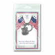 1 Inch Fine Pewter Police/St. Michael Shield Keychain