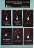 1 Inch Oval Sterling Silver St. Gerard Medal On 24 Inch Stainless Steel Chain