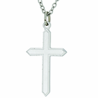 1 Inch Sterling Silver Cross Pendant On 18 Inch Stainless Steel Chain