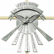"""10"""" Seven Gifts Of The Holy Spirit Brass Cross With Confirmation Dove"""
