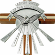 "10"" Seven Gifts Of The Holy Spirit Wood/Brass Cross With Confirmation Dove"