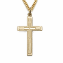 "14K Gold Filled Cross on Cross Necklace on 24"" Chain"