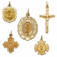 Cross necklaces gold crosses religious jewelry truefaithjewelry 14k gold jewelry mozeypictures Image collections